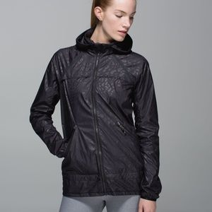 Lululemon Miss Misty Jacket in Black Embossed